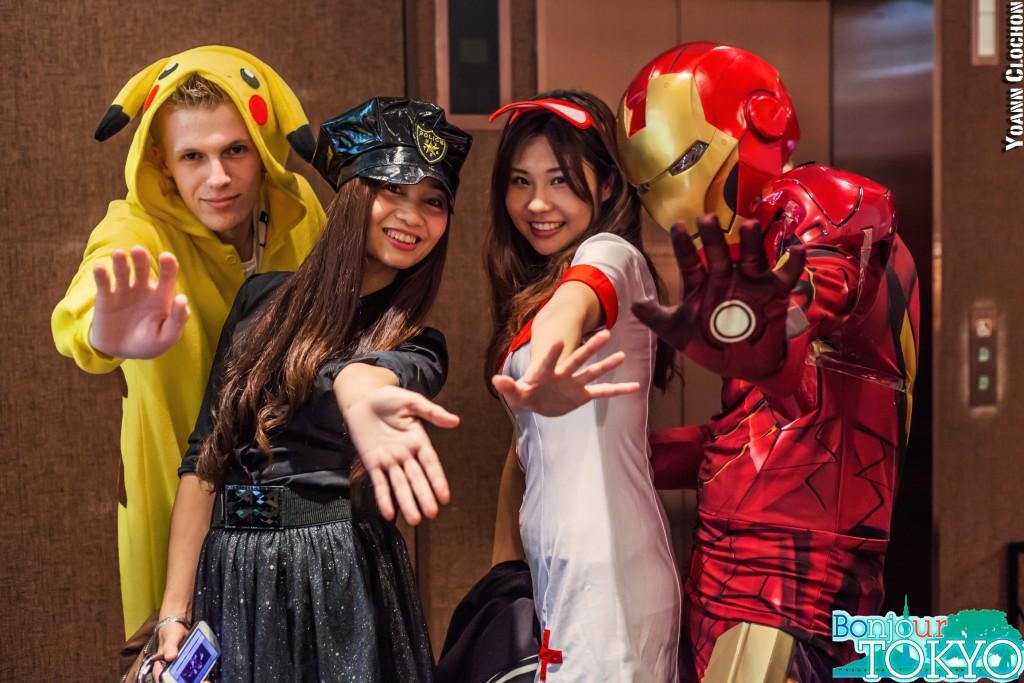 Bonjour Tokyo, soirée d'Halloween avec Iron Man et Pikachu