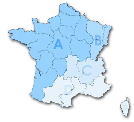 Carte des consulats du Japon en France