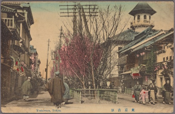 The Yoshiwara district before 1916.