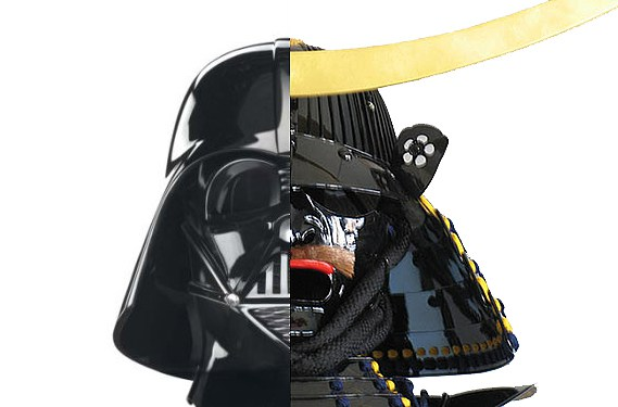 Darth Vader and Date Masamune helmets