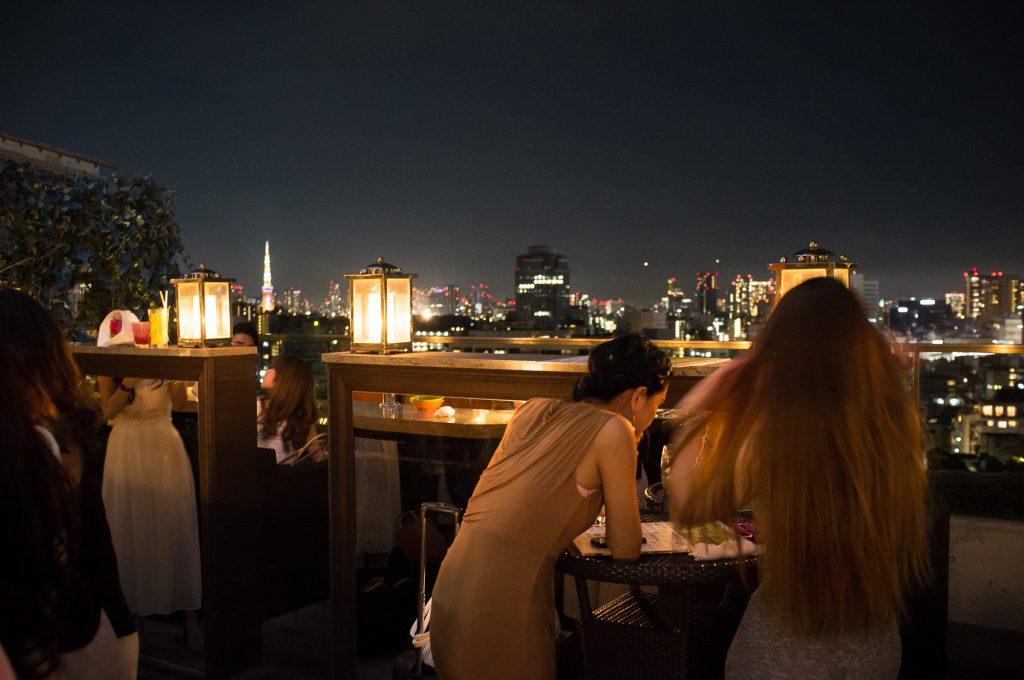 Panoramic view of Tokyo at the Hacienda del Cielo