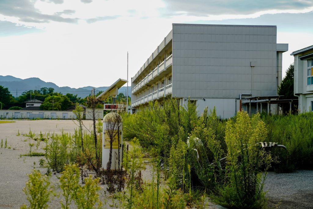 An abandoned school in Tomioka, Fukushima.