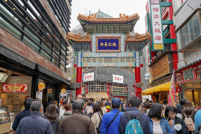 Rue principale du quartier chinois de Yokohama.